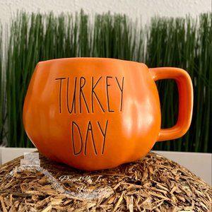 NWT HTF Rae Dunn Orange Turkey Day Mug